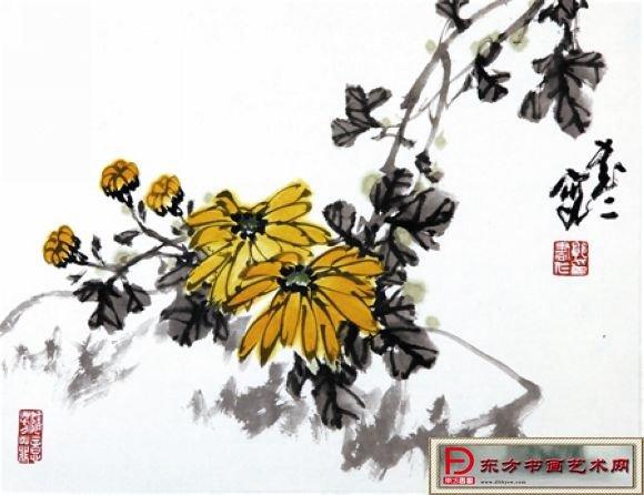 菊花水墨画的画法 水墨画梅花的简单画法 水墨画菊